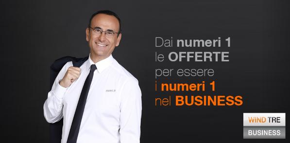 Carlo Conti Nuovo Testimonial di Wind Tre Italia Business
