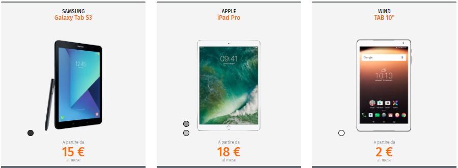 Wind Tre Business - Tablet in offerta
